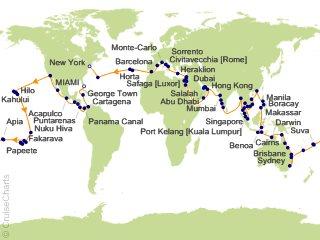 Regent World Cruises Cruise Tour 146 Night , Seven Seas Navigator ...