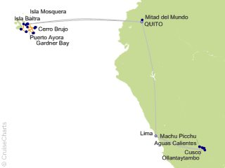 16 Night Galapagos Southern Loop and Machu Picchu Cruise and Land Tour from Quito