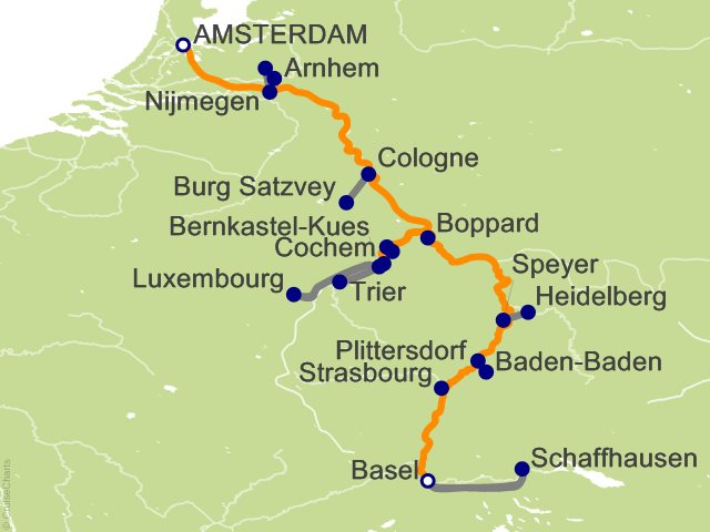 12 Night The Rhine and Moselle Southbound Cruise on Grace from
