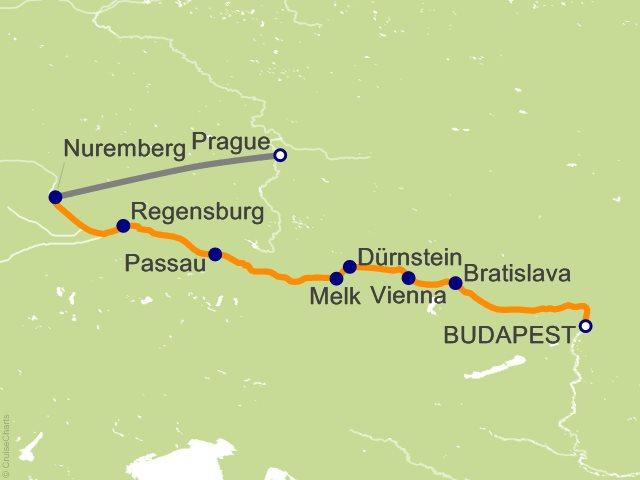 Budapest Christmas Markets Map.Emerald Waterways Europe Cruise 10 Nights From Budapest