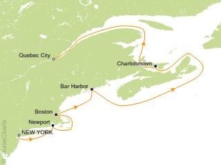 Fall Foliage 2020 New York Crystal Canada / New England Cruise, 8 Nights From New York