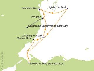 Maya World Map.Lindblad Costa Rica Cruise 5 Nights From Santo Tomas National