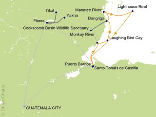 Lindblad costa rica cruise 8 nights from belize city national 8 night belize to tikal reefs rivers and ruins of the maya world cruise and land tour from belize city gumiabroncs Choice Image