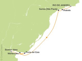 Azamara Club Cruises South America Cruise, 8 Nights From Rio de