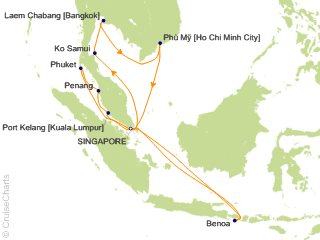 Princess Asia / Orient Cruise, 17 Nights From Singapore