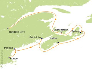 Map Of New England And Quebec.Ncl Canada New England Cruise 7 Nights From Quebec City