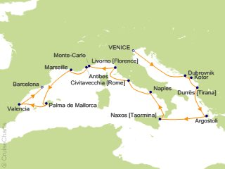 Oceania Mediterranean Cruise, 14 Nights From Venice, Sirena