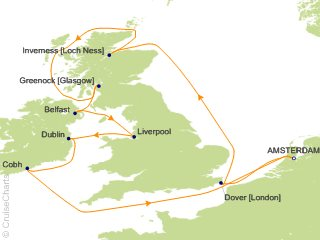 Celebrity Cruises, British Isles from Amsterdam, August 13 ...