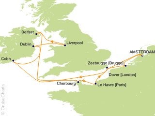 British Isles Explorer - Bergen to London - Cruise Overview