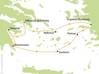 7 Night Treasures of the Greek Isles Cruise from Athens (Port of Piraeus)