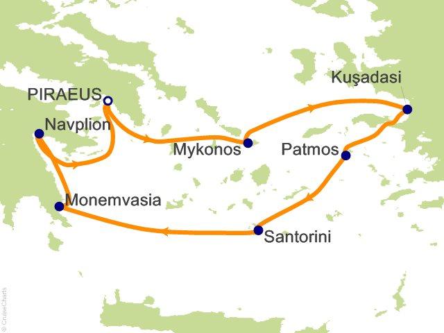 7 Night Treasures of the Greek Isles Cruise