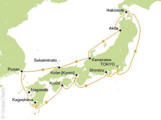 Azamara Club Cruises Asia / Orient Cruise, 14 Nights From Tokyo