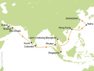 MSC Cruises Asia / Orient Cruise, 27 Nights From Shanghai