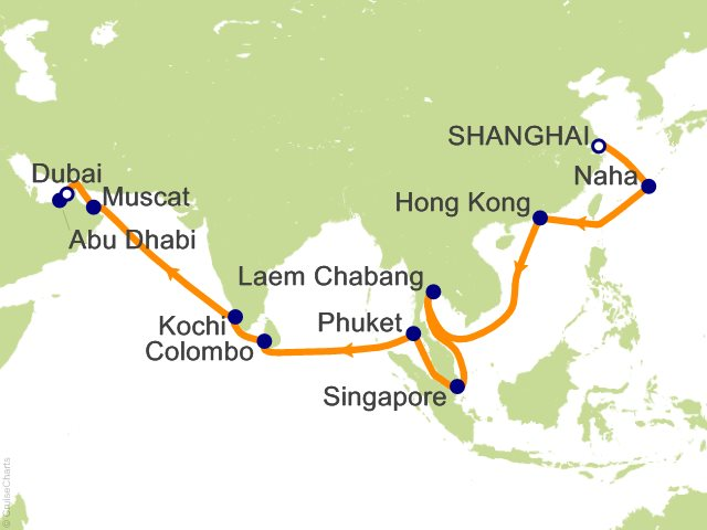 27 Night Grand Voyages Cruise on MSC Splendida from ...