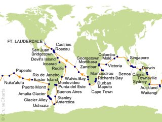 Holland America World Cruises Cruise, 128 Nights From Fort ...