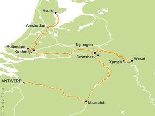 Antwerp Map Europe.Viking River Europe Cruise 9 Nights From Antwerp Viking Kvasir