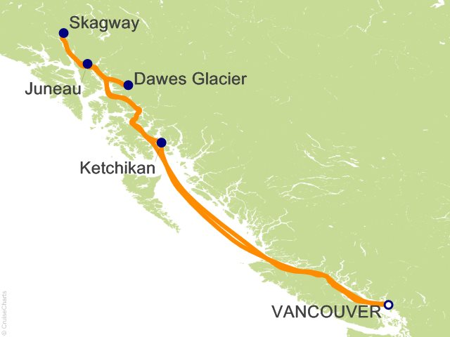 7 Night Alaska from Vancouver Cruise