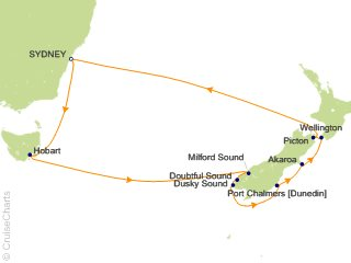 Map Of Australia Tasmania And New Zealand.Celebrity Australia New Zealand Cruise 12 Nights From Sydney