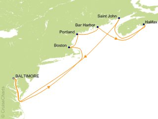 Cruise From Baltimore 2020.Royal Caribbean Canada New England Cruise 9 Nights From