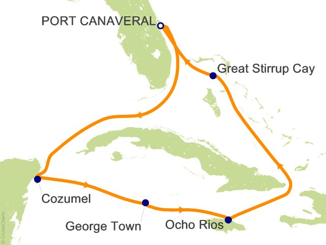 7 Night Caribbean from Orlando (Port Canaveral)   Jamaica and Grand Cayman Cruise