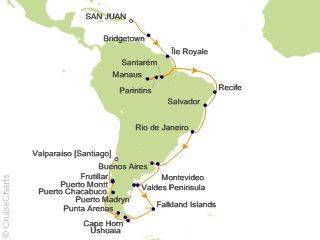 43e57ea43a72 Viking Oceans South America Cruise, 46 Nights From San Juan, Viking ...