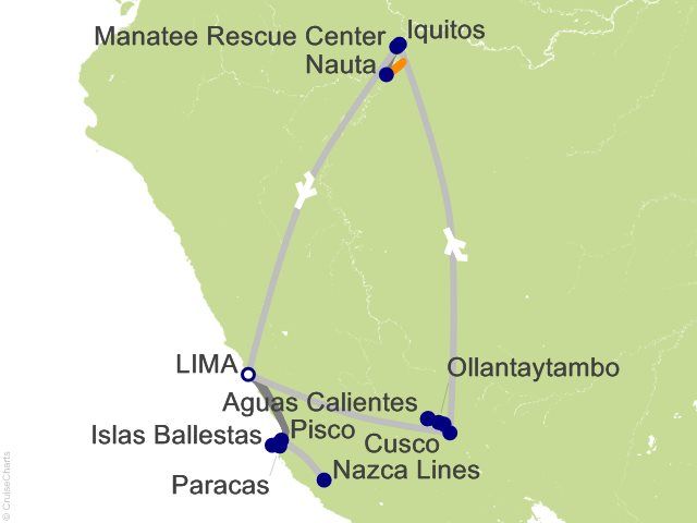 12 Night From the Inca Empire to the Peruvian Amazon with the Nazca Lines Cruise and Land Tour