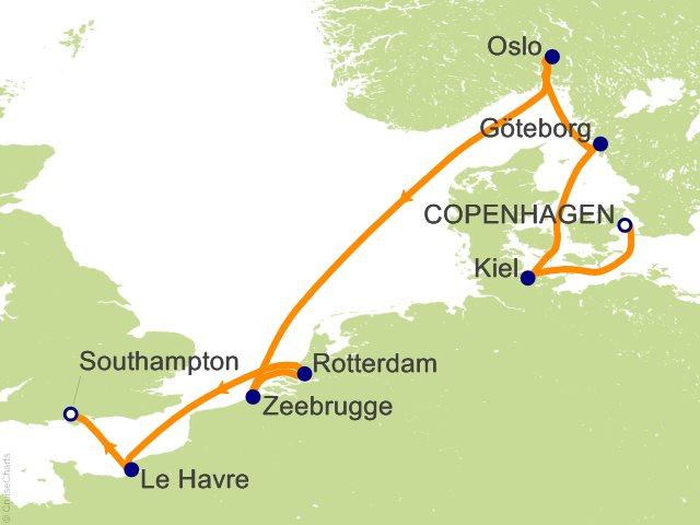 Carnival Europe Cruise, 9 Nights From Copenhagen, Mardi Gras, August on
