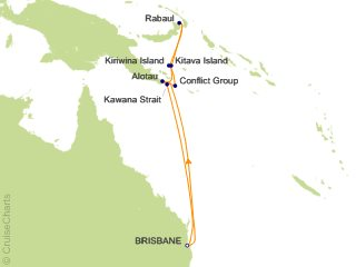 Map Of Australia New Zealand And Papua New Guinea.Princess Australia New Zealand Cruise 11 Nights From Brisbane