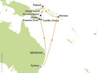 Map Of Australia New Zealand And Papua New Guinea.Princess Australia New Zealand Cruise 13 Nights From Brisbane