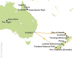 19 Night Australian Outback Tour 3A Cruise and Land Tour from Sydney