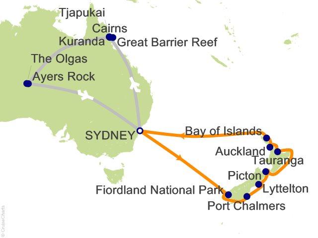19 Night Australian Outback Tour 3A Cruise and Land Tour