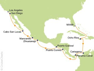 16 Night Passage Between Two Seas Cruise from Miami