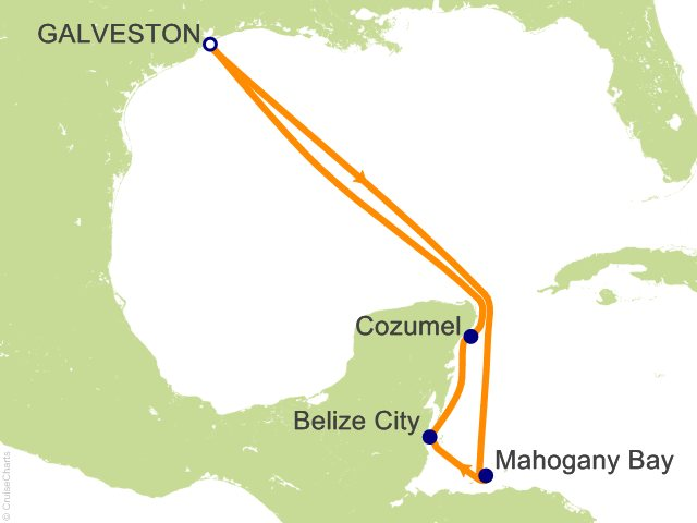 7 Night Western Caribbean Cruise On Carnival Breeze From Galveston Sailing January 15 2017 On
