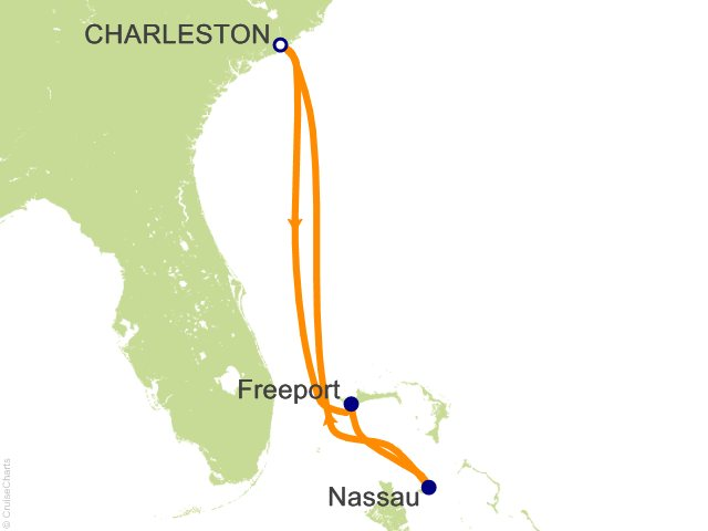 Night The Bahamas Cruise On Carnival Ecstasy From Charleston - Cruise out of charleston sc