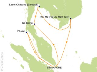 Princess Asia / Orient Cruise, 11 Nights From Singapore