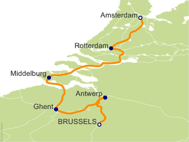 7 Night Amsterdam and Brussels Bound Cruise