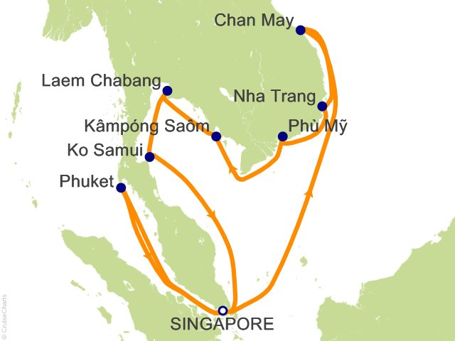 Princess Asia / Orient Cruise, 15 Nights From Singapore