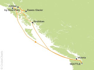 7 Night Alaska Roundtrip Seattle   Dawes Glacier  Juneau and Ketchikan Cruise from Seattle