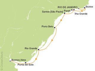 10 Night Rio de Janeiro to Buenos Aires Cruise from Rio de Janeiro