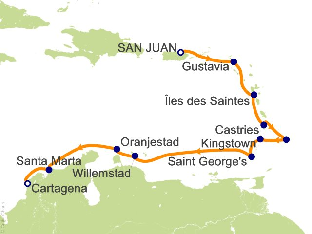 12 Night San Juan to Cartagena Cruise