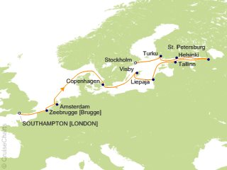 12 Night London (Southampton) to Stockholm Cruise from Southampton