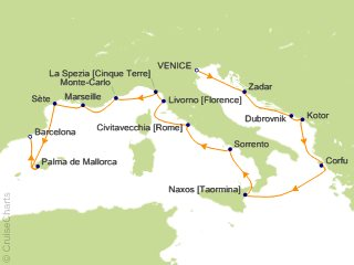 15 Night Venice to Barcelona Cruise from Venice