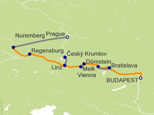 10 Night Gems of the Danube with Prague Cruise and Land Tour
