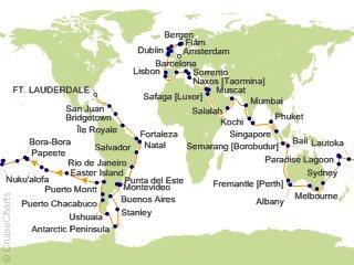 World Cruise 2020.Silversea World Cruises Cruise 139 Nights From Fort