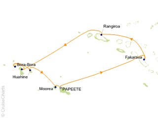 10 Night Tahiti and the Tuamotu Islands Cruise from Papeete