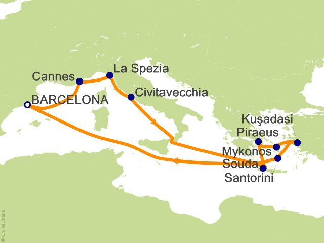 Royal Caribbean Mediterranean Cruise 12 Nights From Barcelona Jewel Of The Seas October 15 2021 Icruise Com