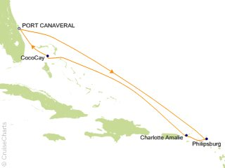 7 Night Eastern Caribbean and Perfect Day Cruise from Port Canaveral
