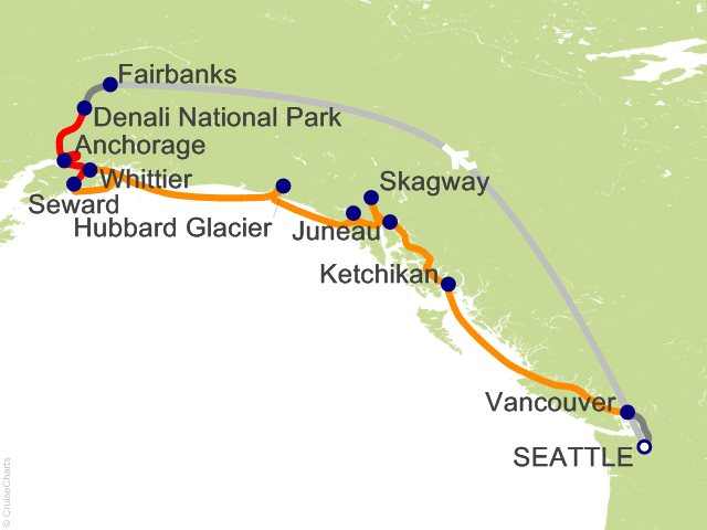 13 Night Seattle Triple Denali - R1L from Seattle