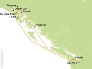 9 Night Alaska Round trip Seattle   Glacier Bay  Skagway and Juneau Cruise from Seattle