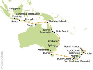 35 Night Auckland to Singapore Cruise from Auckland